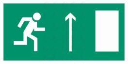 Направление к эвакуационному выходу прямо (правый)