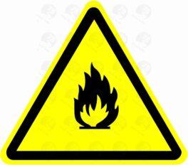 Пожароопасно. Легковоспламеняющие вещества