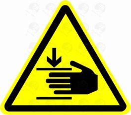 Осторожно. Возможно травмирование рук