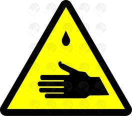 Осторожно. Возможное попадание ядовитых веществ на кожу рук.