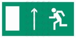 Направление к эвакуационному выходу прямо (левый)