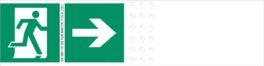 """Полоса с печатью знака """"Направление движения к эвакуационному выходу"""" (правый)"""